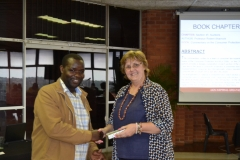 Dr Kwenda and College Dean of Research