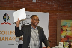 Dr Mabutho Sibanda  Celebrating on behalf School