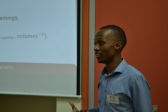 Mr Gumede presenting at Research day